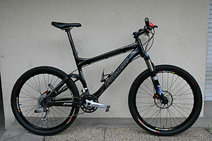 Mountain bike - A full-suspension mountain bike: a 2007 Specialized Epic Marathon.