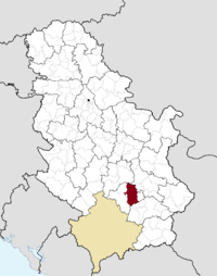 Location of the municipality of Prokuplje within Serbia