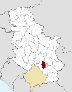 prokuplje mapa srbije Prokuplje   Wikipedia prokuplje mapa srbije