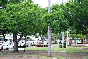 Murgon - The park on the main street of Murgon