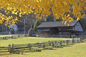 Museum of Appalachia - Cantilever Barn and Hacker Martin Grist Mill
