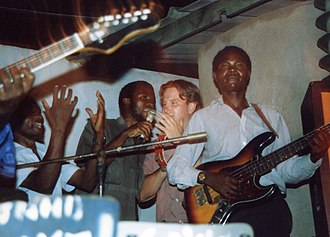 Music of Zimbabwe - Musicians playing Zimbabwean pop music, Mberengwa, 2005