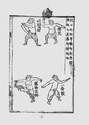 Gwonbeop - Muye Jebo - 3rd page of commentary and illustrations