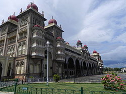 A corner view of Mysore Palace