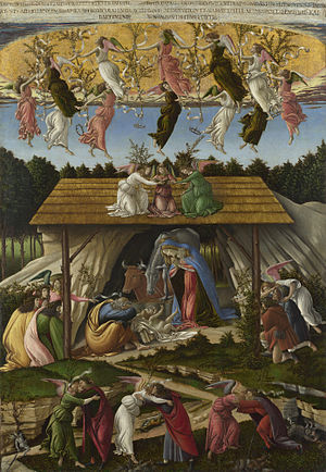 Christmas Oratorio - The Mystical Nativity (1501) by Sandro Botticelli