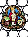 Nürnberg Lorenzkirche - Wappenscheibe Fuerer Holzschuher 2 König.jpg