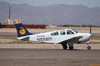 Lufthansa Flight Training - A Beech Bonanza at Phoenix Goodyear Airport