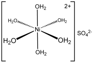 Nickel(II) sulfate - Image: N9(H2O)6SO4