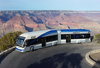 North American Bus Industries - Image: NABI 60 BRT Allison Hybrid