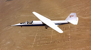 NASA AD-1 - Image: NASA AD 1 in flight