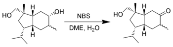 The selective oxidation of alcohols using NBS