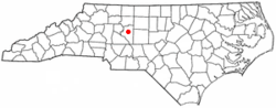 Location of Welcome, North Carolina