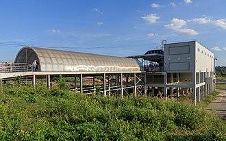 Nizhny Novgorod Cableway - Image: NN Bor Volga Cableway 08 2016 img 07