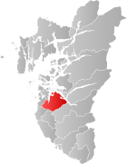 Locator map showing Sandnes within Rogaland