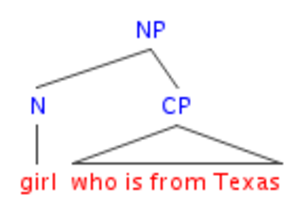 Head-directionality parameter - English NP structure
