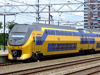 Transport in the Netherlands - Many trains are double-deckers