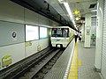 Nagahori Tsurumiryokuchi-Line Gamo 4-chome station platform - panoramio (2).jpg