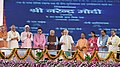 Narendra Modi dedicates the Bansagar Canal Project to the Nation, lays the Foundation Stone of Mirzapur Medical College and inaugurates 100 Jan Aushadhi Kendras in the State, at a function, in Mirzapur, Uttar Pradesh.JPG