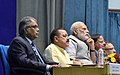 Narendra Modi looks on as IAS Officers of 2015 batch make presentations to PM on various themes, at the Valedictory Session of Assistant Secretaries (IAS Officers of 2015 batch), at DRDO Bhawan, in New Delhi.jpg