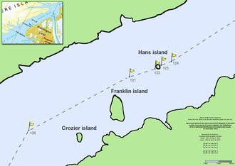 Hans Island - Image: Nares strait border (Kennedy channel)