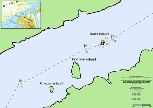 Nares strait border (Kennedy channel)