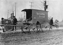 Bread delivery wagon in Earlscourt in 1908