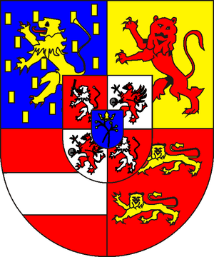 Elisabeth Charlotte, Countess of Holzappel - Coat of arms of Nassau-Schaumburg
