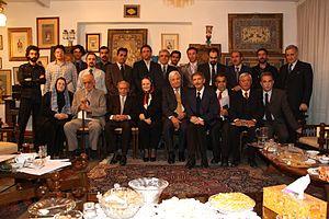 Adib Boroumand - NF leaders in Adib House in 2010