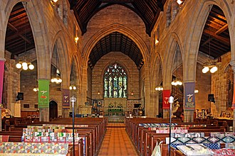 Church of All Hallows, Allerton - Image: Nave of All Hallows, Allerton