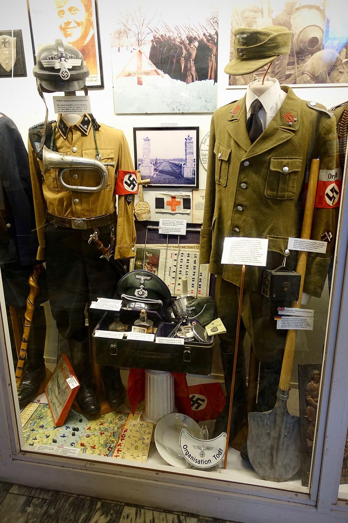 File:Nazi Germany uniforms etc. SA NSKK helmet bugle ...