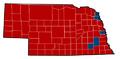Nebraska Senate Election Results by County, 2012.png