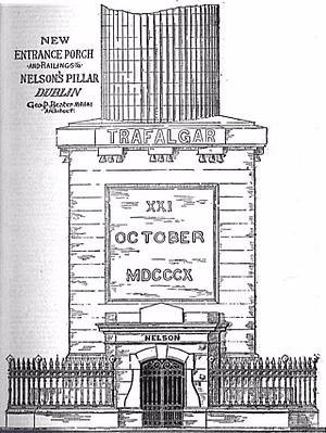 Nelson's Pillar - Design for the new 1894 entrance porch