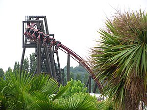 Thorpe Park - Image: Nemesis Inferno first drop