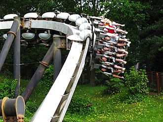 Inverted roller coaster - Image: Nemesis at Alton Towers 240 (4756752644)