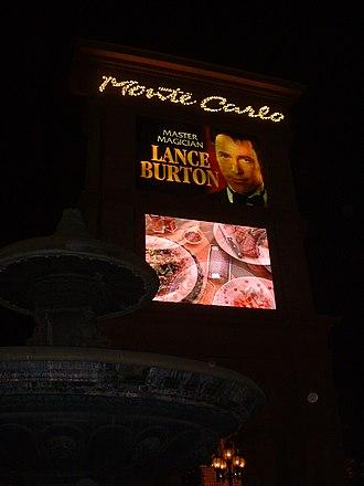 Lance Burton - Image: Neon Sign Monte Carlo Vegas