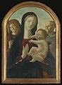 Neroccio di Bartolommeo de' Landi and Workshop, Madonna and Child with saints Michael and Bernardino of Siena.jpg