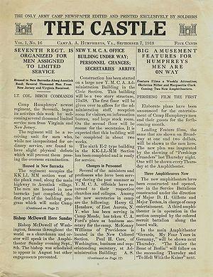 Fort Belvoir - The Castle camp newspaper, 7 September 1918