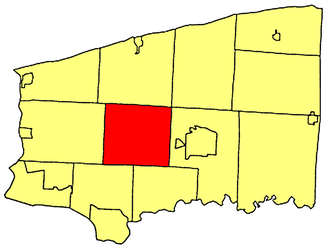 Cambria, New York - Location within Niagara County.