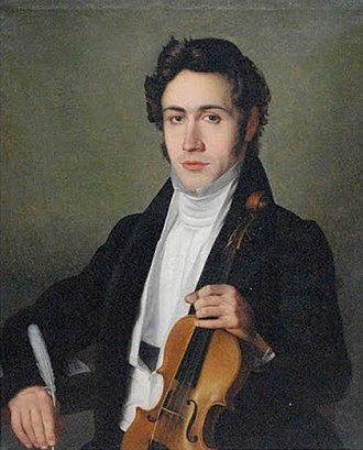 Niccolò Paganini - Portrait of young Paganini