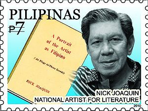 Nick Joaquin - Joaquin on a 2010 stamp of the Philippines