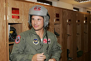 22d Fighter Squadron - Actor Nick Lachey in squadron gear in 2008