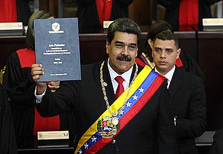 Second inauguration of Nicolás Maduro The Presidential inauguration of Venezuelas Nicolás Maduro on 10 January 2019