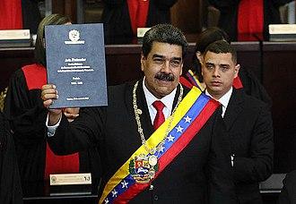 Presidency of Nicolás Maduro - Image: Nicolás Maduro 2019 Inauguration