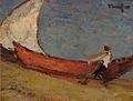 Nicolae Tonitza - Pescar cu barca la malul marii.jpg