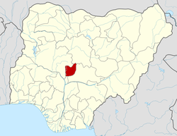 Location of Federal Capital Territory in Nigeria