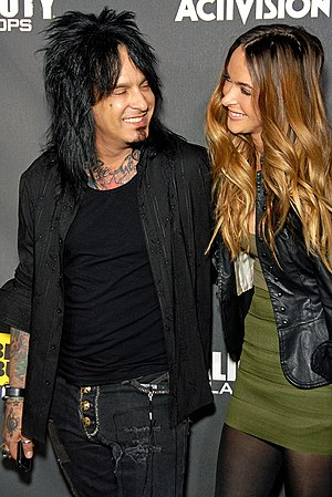 Nikki Sixx - Nikki Sixx and Courtney Bingham at the 'Call of Duty: Black Ops' Release Party in Santa Monica, California on November 4, 2010