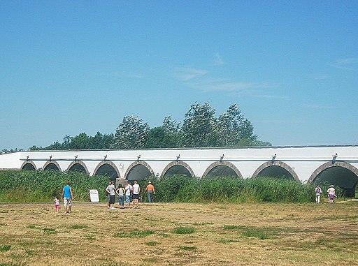 Neunbogige Brücke über den FLuss Hortobágy (UNESCO-Welterbe in Ungarn - Nationalpark Hortobágy), Nine-holed Bridge, Hortobágy 02