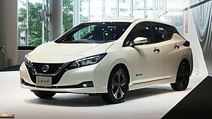 Nissan Leaf - Image: Nissan Leaf ZE1 Nissan Global Headquarters Gallery 2017 08 1