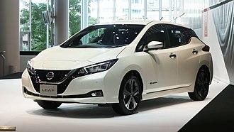 Nissan Leaf - Image: Nissan Leaf ZE1 Nissan Global Headquarters Gallery 2017 08 1