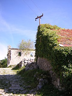 Njeguši settlement in Montenegro